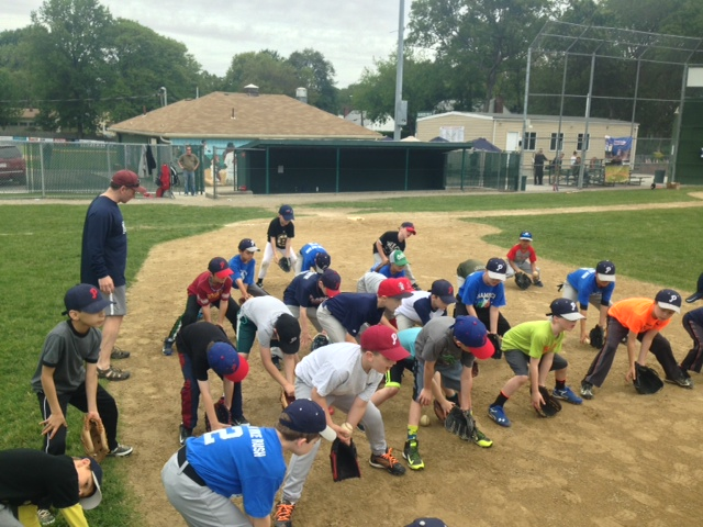Parkway Little League group training 1